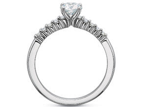 Precision Set Shared Prong Diamond Ring With 0.15CTW Of Round Diamonds