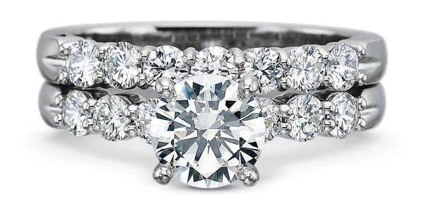 Precision Set FlushFit shared prong Engagement Ring