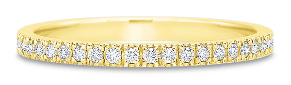 Precision Set New Aire 14k Gold Wedding Band with Diamonds