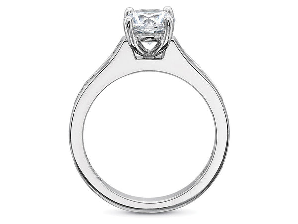Precision Set FlushFit Engagement Ring With Alternating Round and Baguette Diamonds