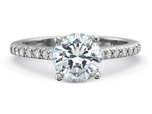 Precision Set Petite FlushFit Engagement Ring in Platinum