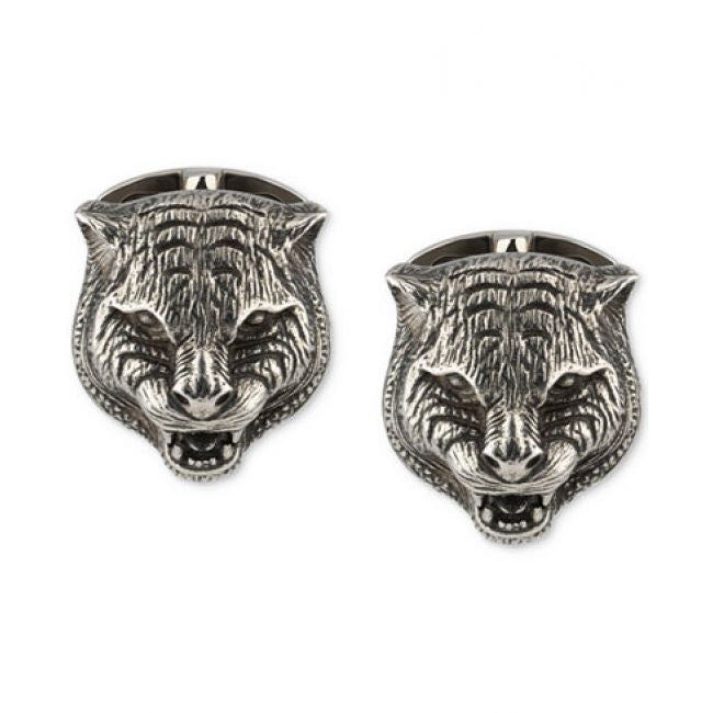 Gucci Sterling Silver Gatto Cufflinks