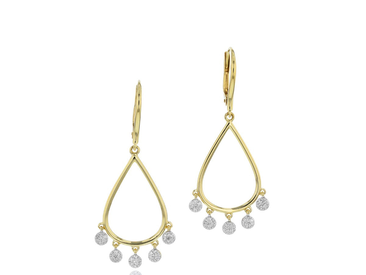 Phillips House Infinity Pear Dangle Earrings with Diamonds