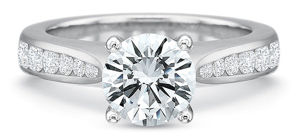 Precision Set 7703 FlushFit 14k White Gold Engagement Ring