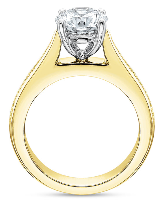 Precision Set 7703 FlushFit 14k Yellow Gold Engagement Ring