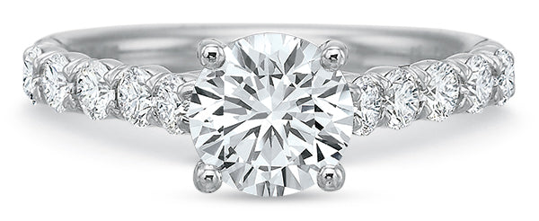 Precision Set 7748 FlushFit 14k White Gold Engagement Ring
