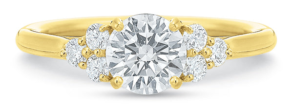 Precision Set 7753 14k Yellow Gold Engagement Ring