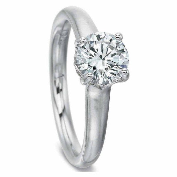 Precision Set FlushFit Solitaire Engagement Ring with Diamond Gallery