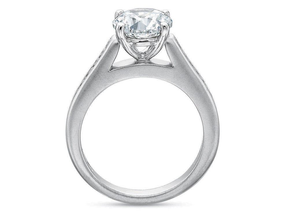 Precision Set FlushFit Half Round Channel Set Diamond Engagement Ring