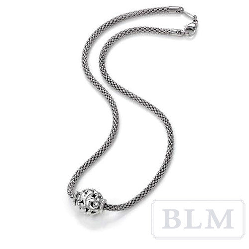 Charles Krypell Sterling Silver Ivy Bead Necklace