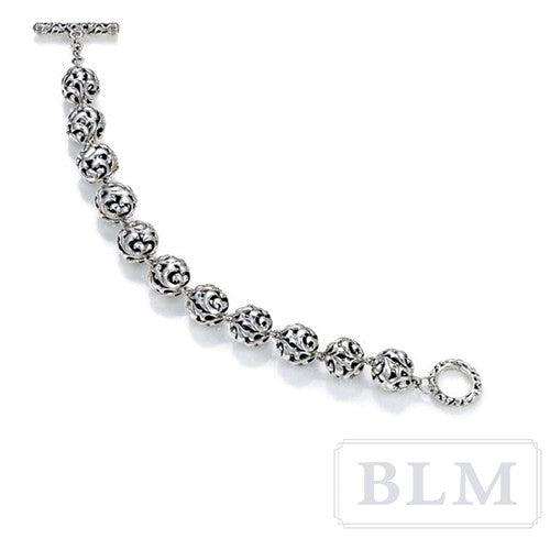 Charles Krypell Sterling Silver Ivy Ball Toggle Bracelet