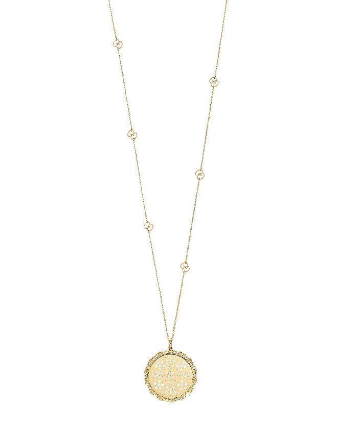 Gucci 18k Yellow Gold Icon Blooms Necklace