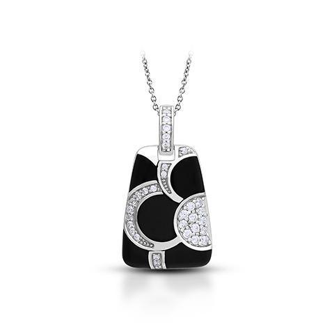 Belle Etoile Black and White Adina Pendant
