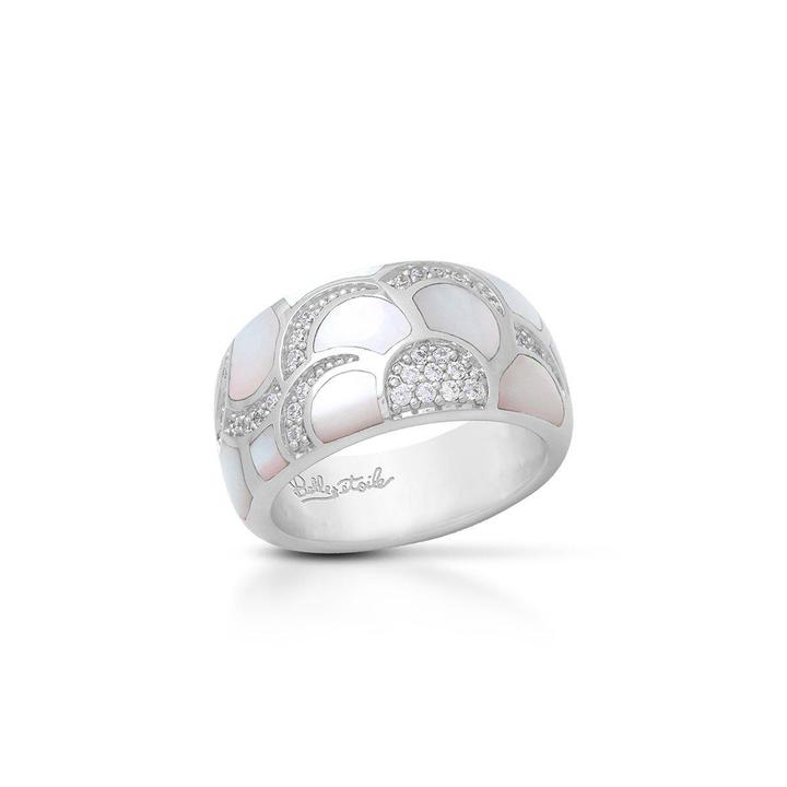 Belle Etoile 'Adina' Ring with Mother of Pearl