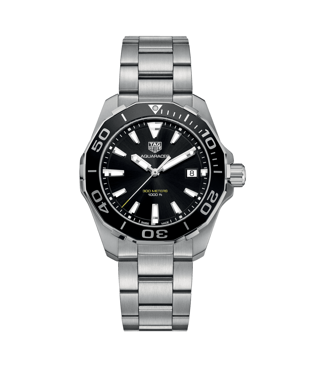 TAG Heuer 'Aquaracer' 40.5mm Watch with Black Dial