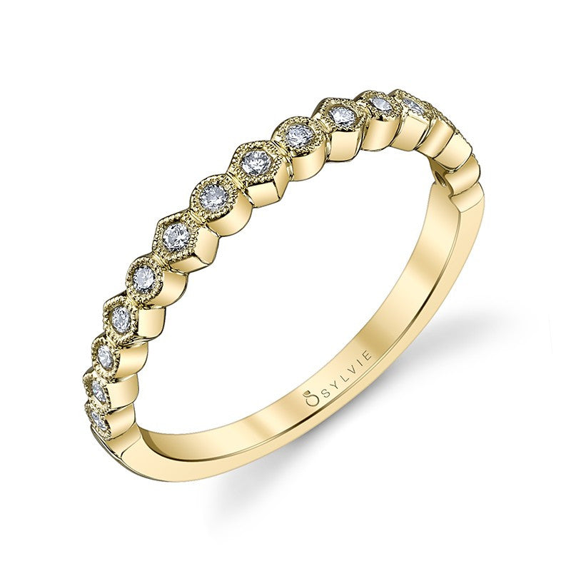 Bezel Set Diamond Wedding Ring with Milgrain Detail – Brent L. Miller