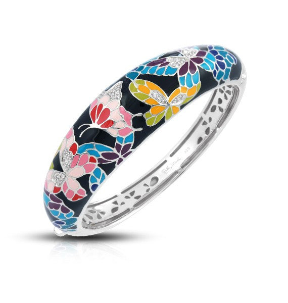 Belle Etoile 'Butterfly Kisses' Black Bangle Bracelet