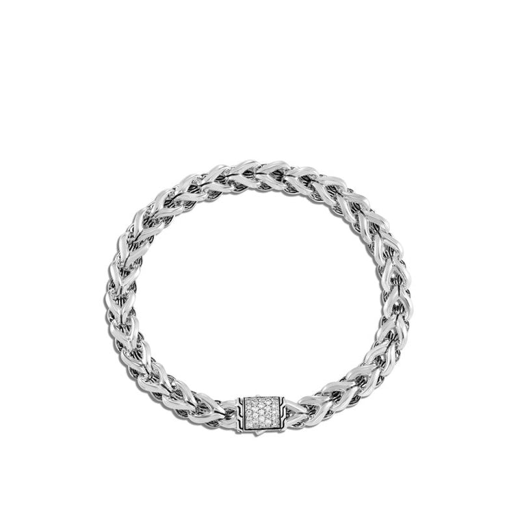 John Hardy Asli Classic Chain Link Bracelet with Diamonds