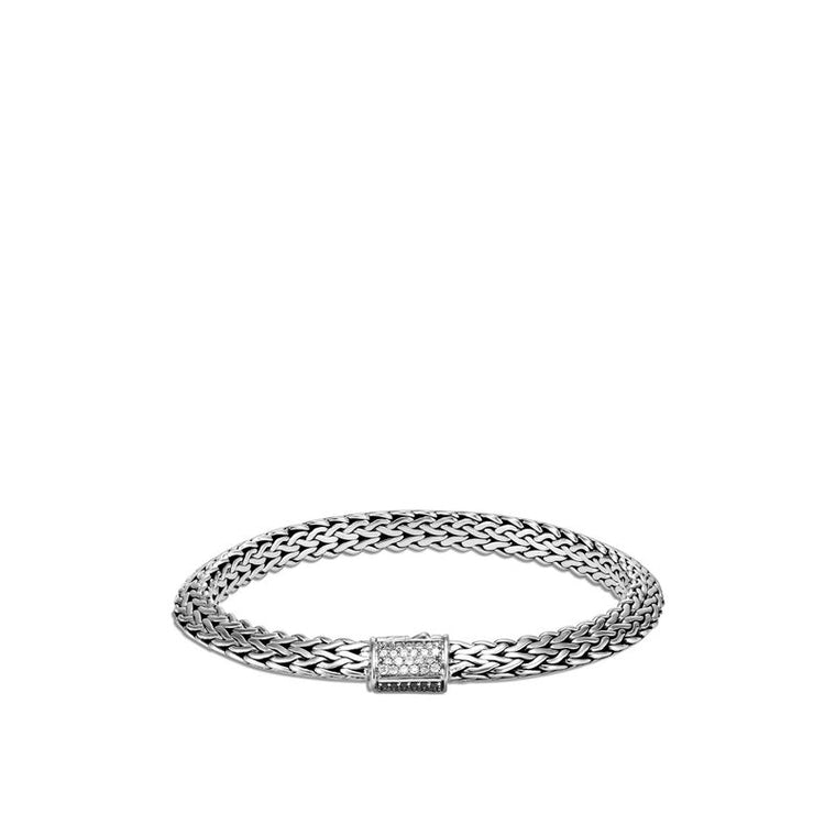 John Hardy Tiga Classic Chain 6.5mm Bracelet w/ Diamonds
