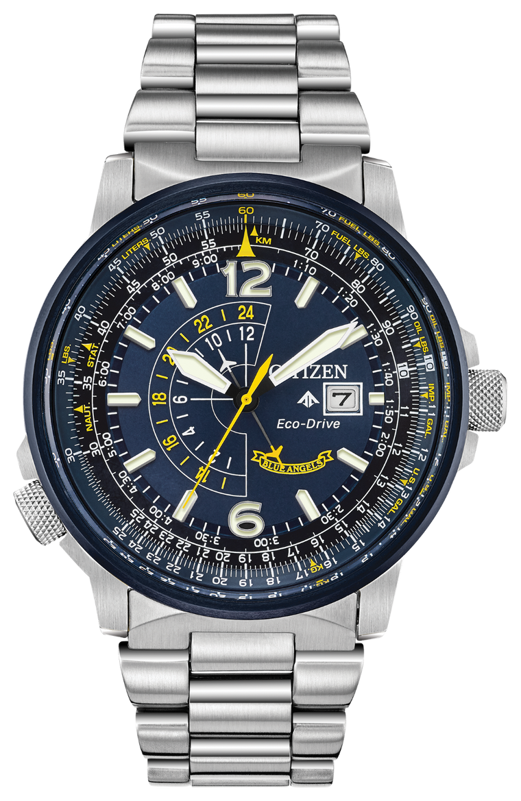 Citizen Blue Angels Promaster Nighthawk 42mm Watch with Blue Dial