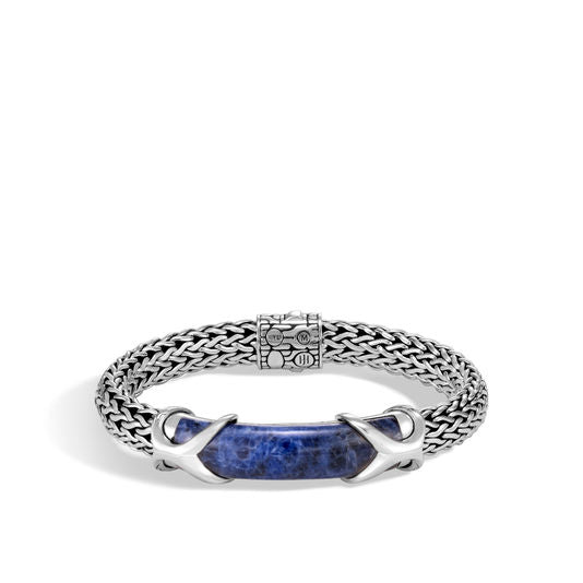 John Hardy Men's Asli Classic Chain Station Bracelet with Sodalite