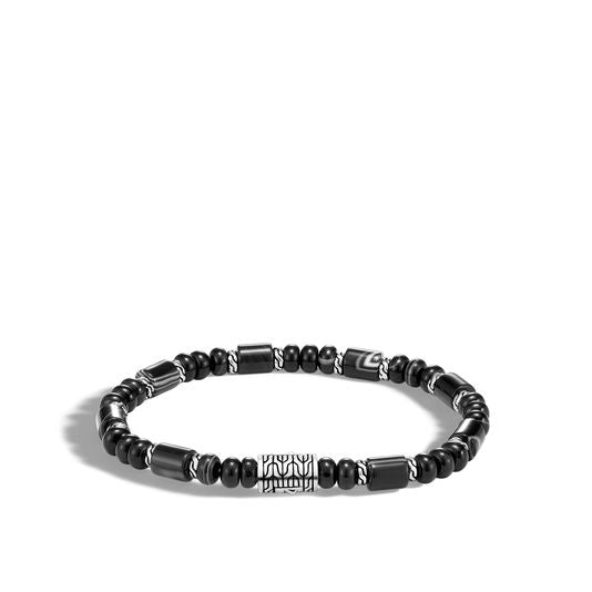 John Hardy Men's Classic Chain Bead Bracelet with Banded Agate