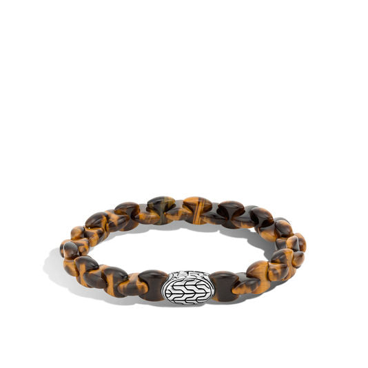 John Hardy Classic Chain Bead Bracelet with Tiger Eye