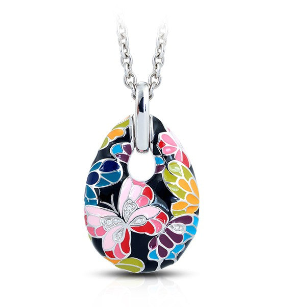 Belle Etoile Butterfly Kisses Black Pendant