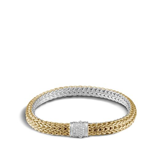 John Hardy Classic Chain Reversible Bracelet with Diamonds