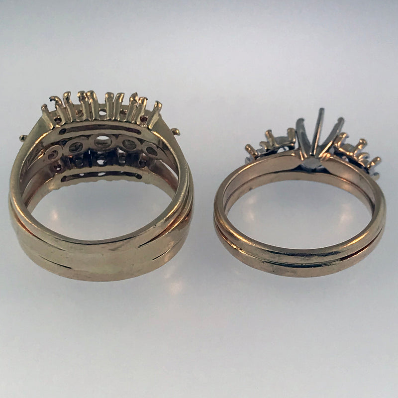2 rings soldered together, 3 rings soldered together