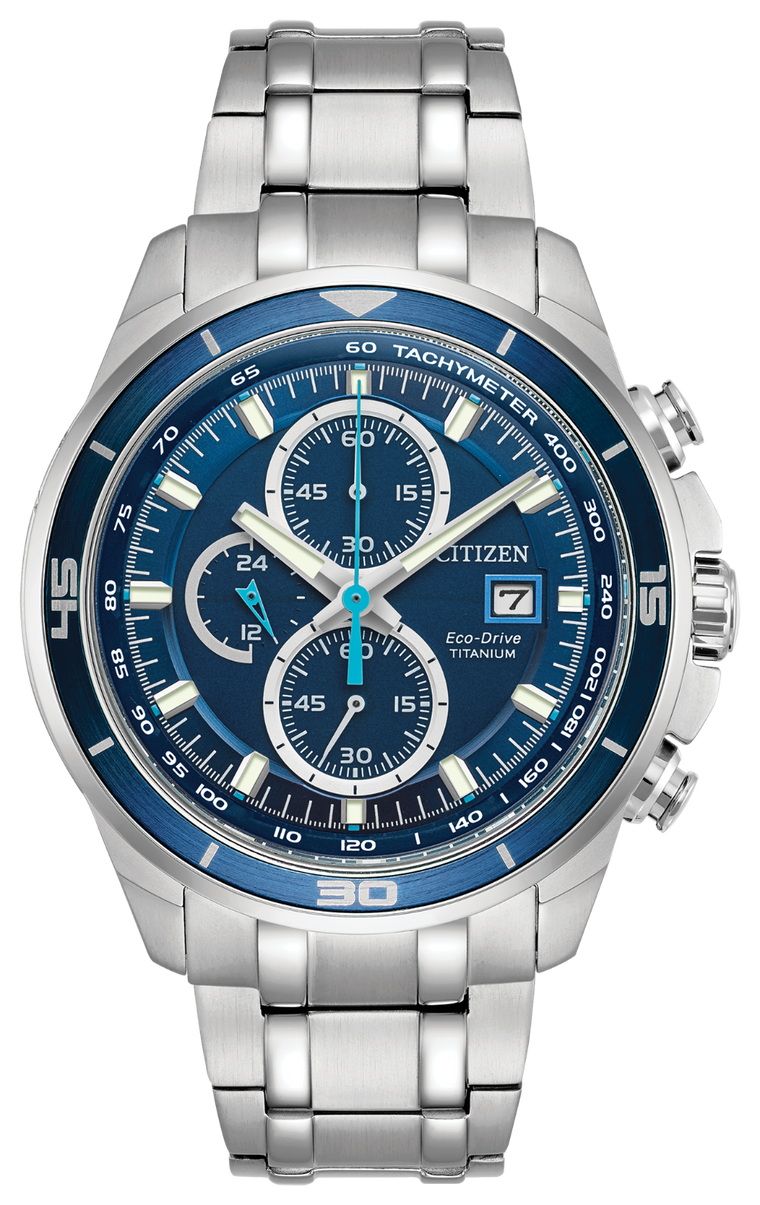 Citizen Brycen 43mm Watch with Blue Dial