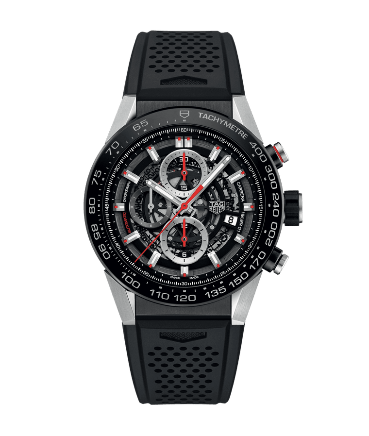 TAG Heuer Carrera Calibre Heuer 01 45mm Watch with Skeleton Dial