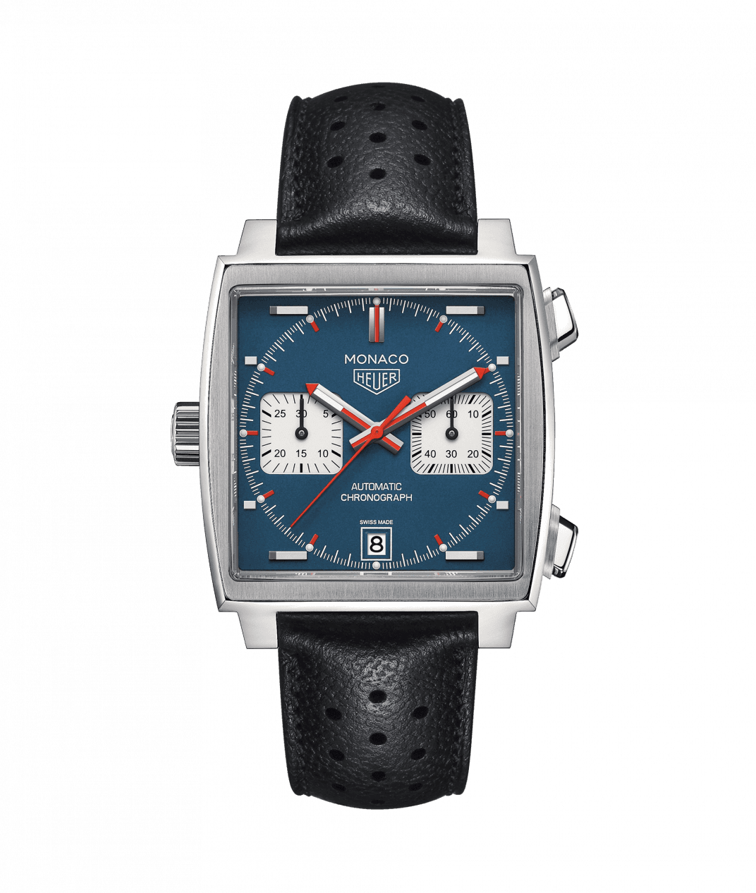 TAG Heuer 'Monaco' Watch with Blue Dial