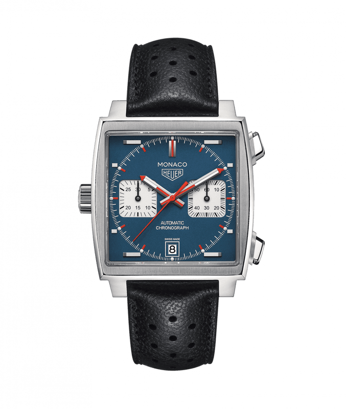 TAG Heuer Monaco Calibre 11 39mm Watch with Blue Dial
