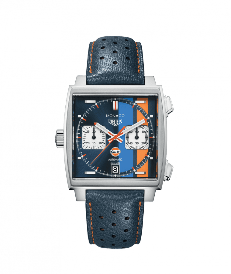 TAG Heuer Monaco Calibre 11 39mm Watch with Gulf Dial