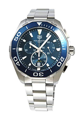 TAG Heuer 'Aquaracer' 43mm 300M Chrono Watch with Blue Dial