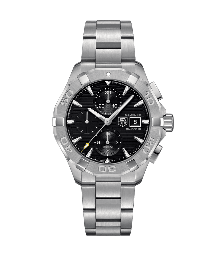 TAG Heuer Aquaracer 43mm Calibre 16 Watch with Black Dial