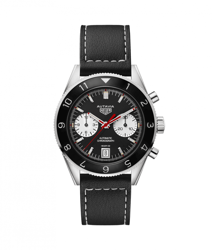 TAG Heuer 'Autavia Heritage' 1972 Re-Edition 42mm Watch with Black Dial