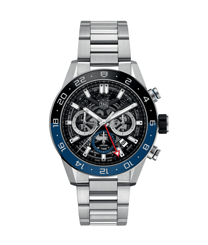 TAG Heuer 'Carrera' 45mm Watch with Skeleton Dial