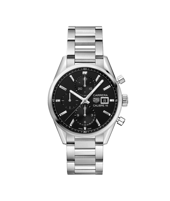 TAG Heuer Carrera 41mm Watch with Black Dial