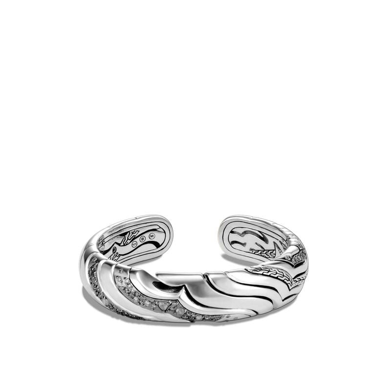 John Hardy Lahar 15mm Kick Cuff Bracelet with Diamonds