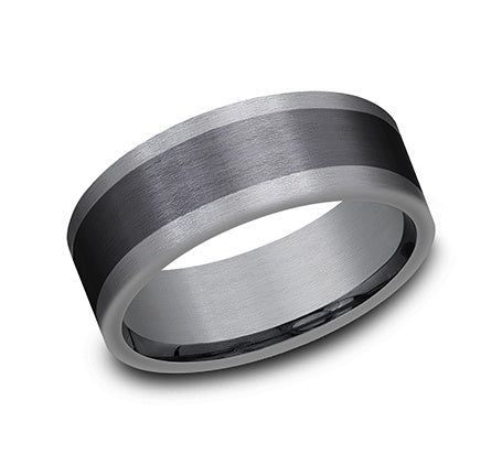Benchmark Black Tantalum and Titanium Wedding Band