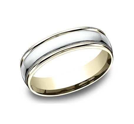 Benchmark Two-Tone High Polish Wedding Band
