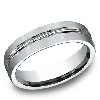 Benchmark 6mm Colbalt Satin Finish Wedding Band