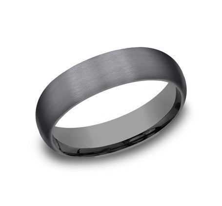 benchmark 6mm tantalum satin finish wedding band - Wedding Ring Pics