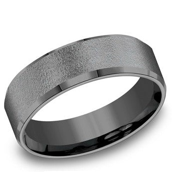 Benchmark 7mm Wire Brushed Tantalum Wedding Band