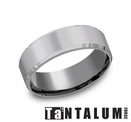 Benchmark 7mm Tantalum Beveled Edge Wedding Band