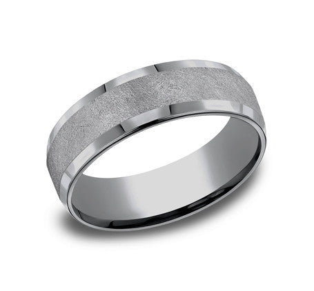 Benchmark 7mm Swirl Finish Wedding Band - Tantalum