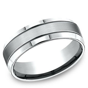 Benchmark 7mm Satin Finish Cobalt Wedding Band