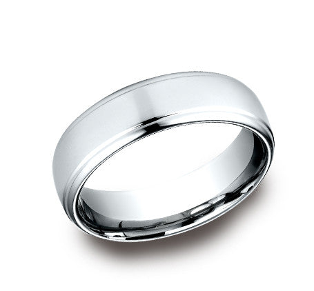 Benchmark 6.5mm High Polish Drop Edge Wedding Band